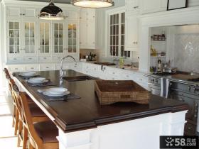 欧式厨房餐厅装修效果图大全2013图片