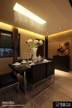 现代餐厅吊顶灯效果图