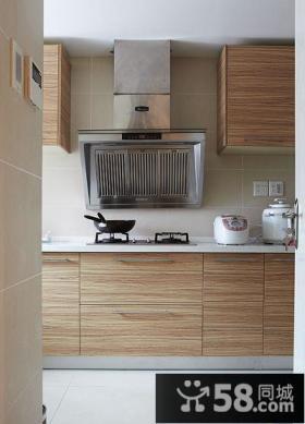 一字型小厨房橱柜效果图欣赏