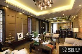 现代别墅客厅装修样板间