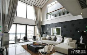 复式楼大客厅布沙发摆放设计