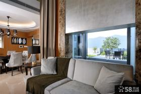 现代复式客厅装修案例