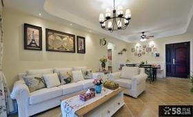 美式风格两居室内设计装饰效果图片