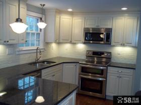 小厨房整体橱柜装修效果图大全2012图片