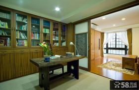 中式江南风格别墅书房室内设计案例