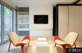 家庭客厅电视背景墙设计
