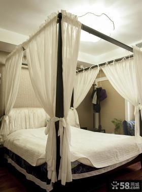 现代中式风格卧室室内装饰效果图片