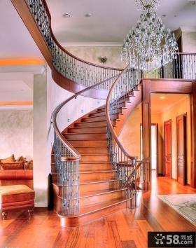 美式别墅铁艺楼梯图片