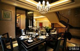 现代复式楼餐厅装修效果图大全