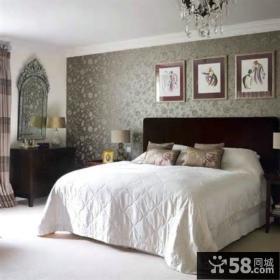 时尚家装卧室墙纸装修效果图