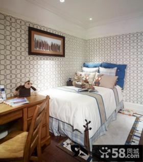 欧式小卧室墙纸装修效果图欣赏