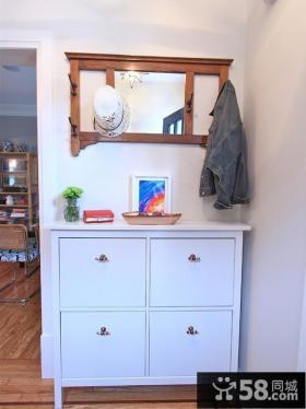 家庭白色鞋柜图片