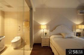 欧式田园20平米卧室隔断装修效果图
