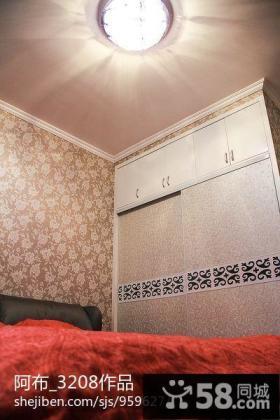 家庭卧室衣柜门图片