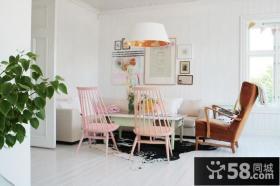 60平小户型田园风格客厅装修效果图大全2014图片