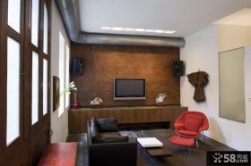 家装小客厅文化砖电视背景墙效果图