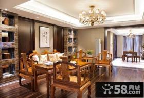 中式别墅客厅样板间装修效果图