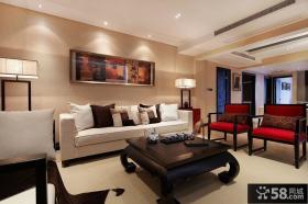 中式二居客厅装饰画图片大全