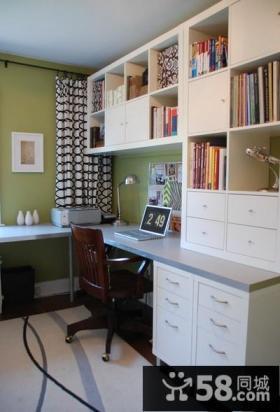 办公室书房装修效果图