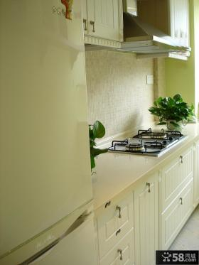 I型厨房整体橱柜效果图