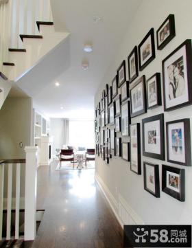 简约复式室内过道相片墙效果图欣赏