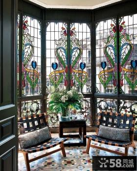 欧式古典客厅阳台装修效果图大全2012图片