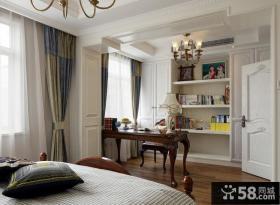 美式样板间卧室书房装修效果图