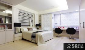 时尚家居卧室吊顶设计图片