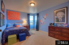美式风格儿童房间布置图片