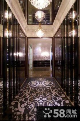 欧式别墅精装进门玄关图片