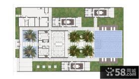 美式小别墅平面设计图片