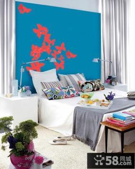 简约风格卧室墙纸装修效果图