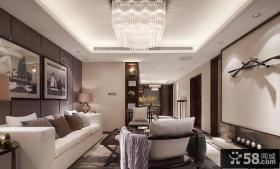 现代中式设计别墅室内装饰效果图片