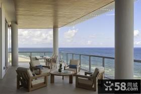 简欧风格客厅阳台装修效果图大全2012图片