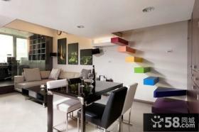 现代家装阁楼楼梯装修效果图
