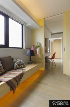 东南亚风格走廊飘窗设计图片