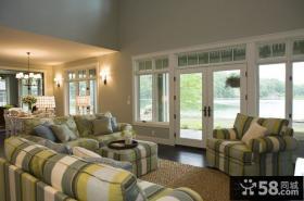 美式乡村田园风格装修客厅图片