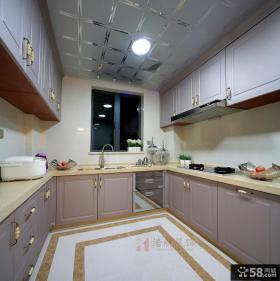 欧式家装整体厨房装修效果图2014