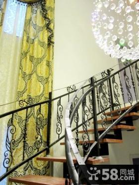 欧式铁艺楼梯效果图