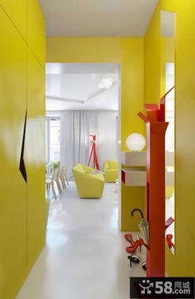 90平小户型现代婚房进门玄关装修效果图大全2012图片