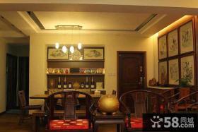 中式家装客厅餐厅吊顶设计图片