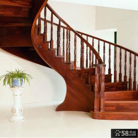 中式家居旋转楼梯设计图