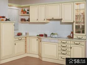 白色厨房橱柜效果图片