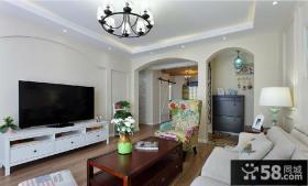 美式地中海风格客厅装修设计图片