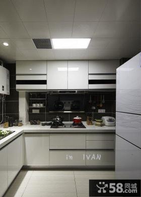 现代简约厨房厨柜装修效果图