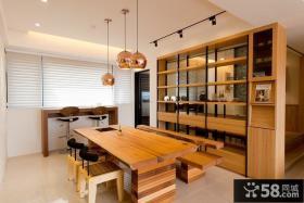优质日式公寓室内餐厅装饰效果图片