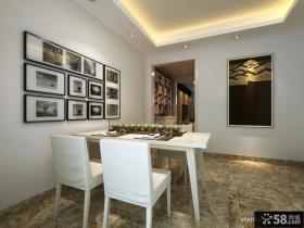 中式风格餐厅背景墙装修效果图