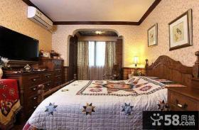 美式建筑风格卧室效果图