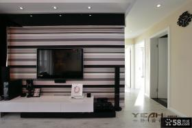 黑白条纹电视背景墙壁纸贴图