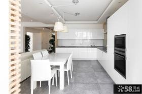 极简主义风格复式室内餐厅设计图